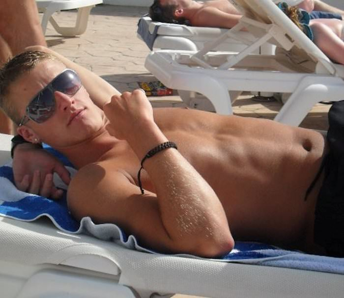 Shirtless Soccer Player Joe Bennett